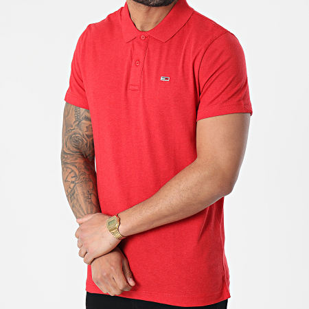 Tommy Jeans - Polo Manches Courtes Essential Jersey 0322 Rouge