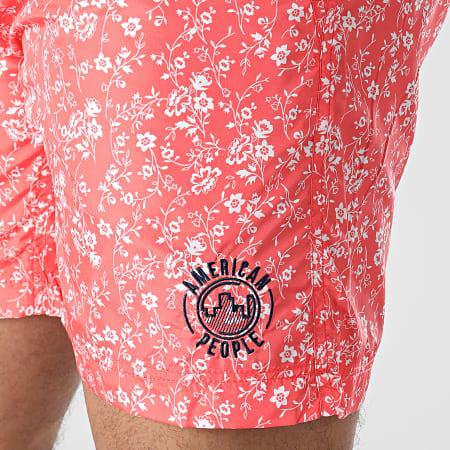 American People - Short De Bain Bao Rouge Floral