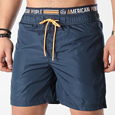 American People - Short De Bain Bruce Bleu Marine
