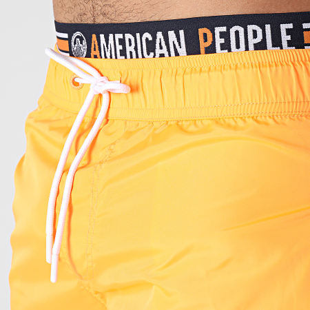 American People - Short De Bain Bruce Orange Fluo