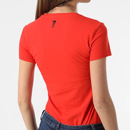 Guess - Tee Shirt Slim Femme Col V W1GI17-J1311 Orange