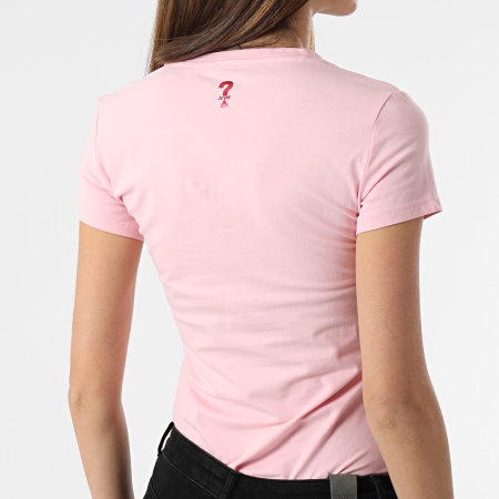 Guess - Tee Shirt Slim Femme Col V W1GI17-J1311 Rose
