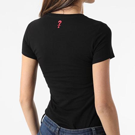 Guess - Tee Shirt Slim Femme Col V W1GI17-J1311 Noir