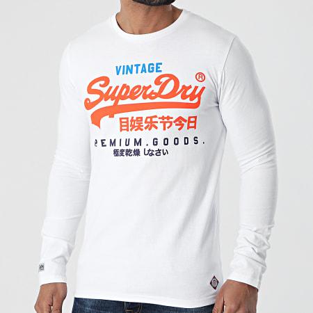 Superdry OL Vintage T-shirt homme à manches longues-Gris Chiné Toutes Tailles