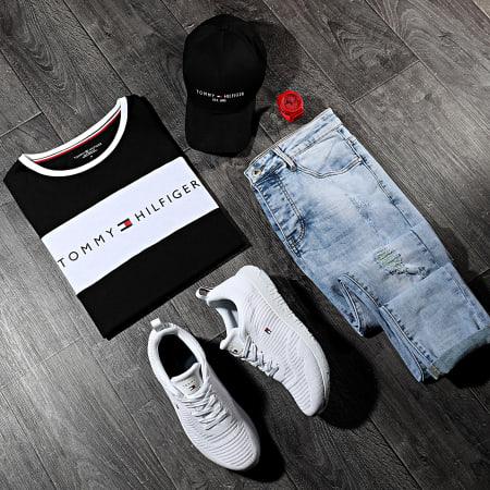Tommy Hilfiger - Tee Shirt CN Logo Flag 1170 Noir