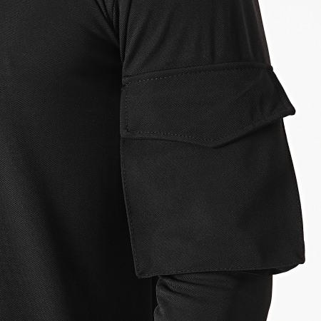 Uniplay - Sweat Col Zippé T757 Noir