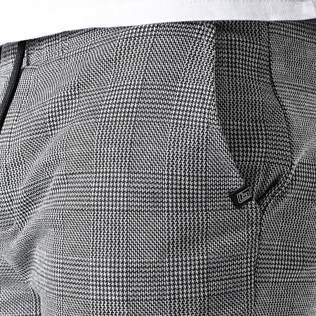 Blend - Short A Carreaux 20712150 Gris