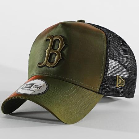 New Era - Casquette Trucker Hypertone 60112699 Boston Red Sox Vert Kaki