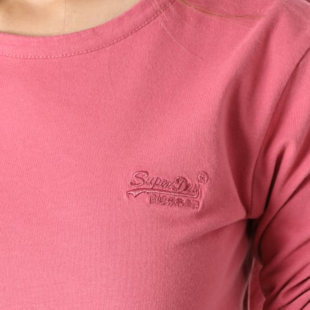 Superdry - Tee Shirt Femme Manches Longues OL Classic W6010957A Rose