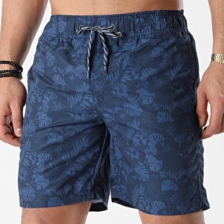 Blend - Short De Bain Floral 20712257 Bleu Marine