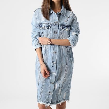 Girls Only - Robe Jean Femme A135 Bleu Wash