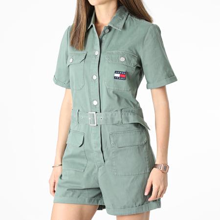 Tommy Jeans - Combinaison Short Boilersuit 9837 Vert Kaki