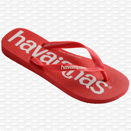 Havaianas - Tongs Top Logo Mania Rouge