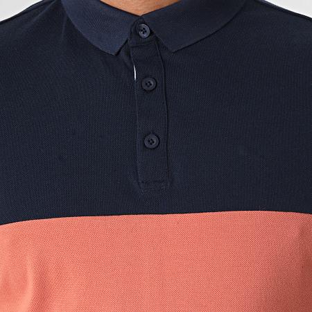 MTX - Polo Manches Courtes P010 Blanc Orange Clair Bleu Marine