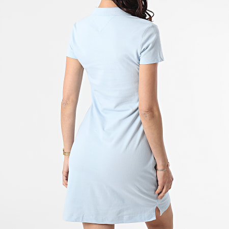 Tommy Hilfiger - Robe Polo Femme Slim 7949 Bleu Ciel