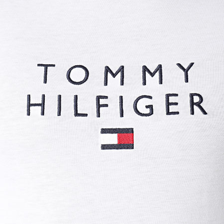 Tommy Hilfiger - Tee Shirt Stacked Tommy Flag 7663 Blanc