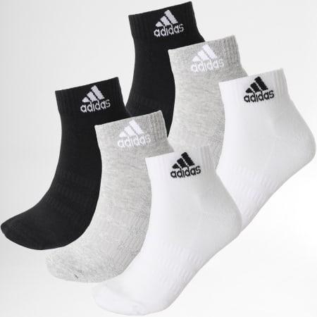 adidas - Lot De 6 Paires De Chaussettes DZ9361 Noir Blanc Gris Chiné