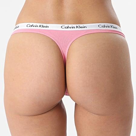 Calvin Klein - String Femme D1617E Rose