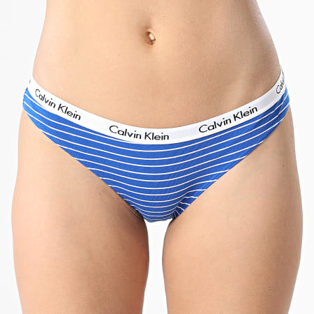 Calvin Klein - Lot De 3 Culottes Femme Bikini 3588E Noir Rose Bleu