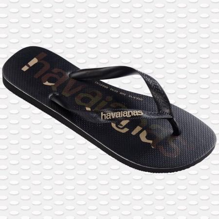 Havaianas - Tongs Top Logo Noir Camouflage