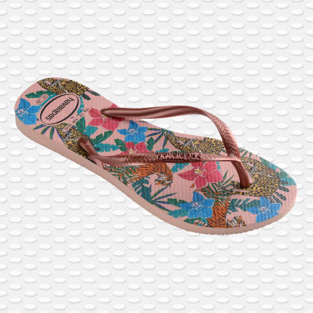 Havaianas - Tongs Femme Slim Tropical Rose