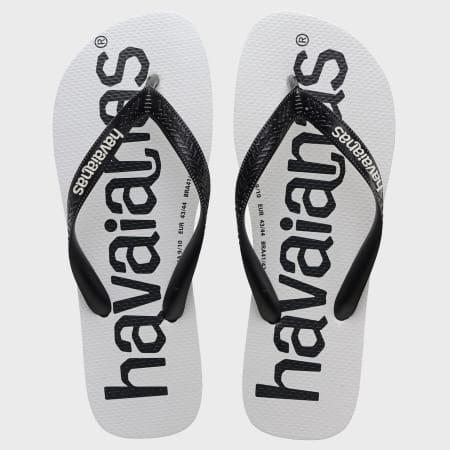 Havaianas - Tongs Top Logo Mania Noir Blanc