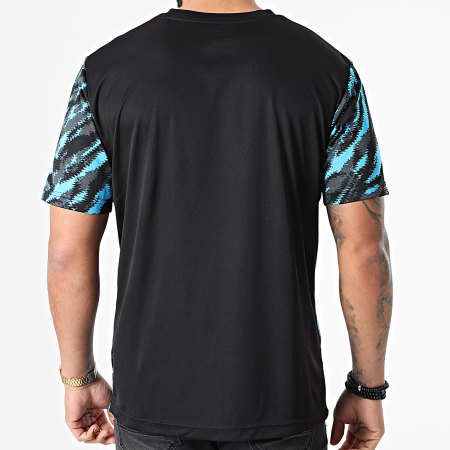 Puma - Tee Shirt De Sport OM Iconic MCS Graphic 758657 Noir Bleu Clair