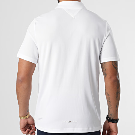 Tommy Sport - Polo Manches Courtes Stripe Training 7270 Blanc
