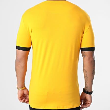 SikSilk - Tee Shirt Inset Elastic Cuff Gym Jaune
