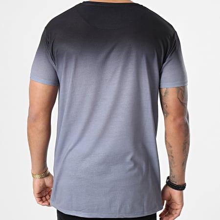SikSilk - Tee Shirt Dégradé High Fade Gris Noir