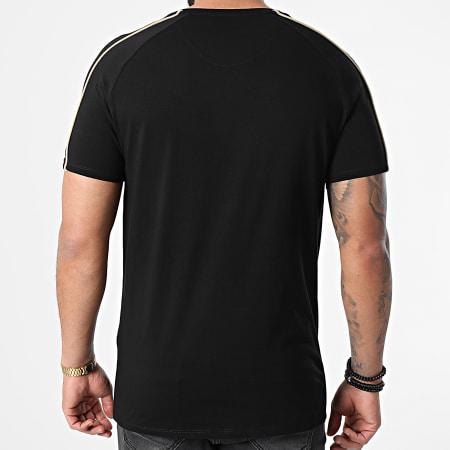SikSilk - Tee Shirt A Bandes Astro Raglan Gym Noir