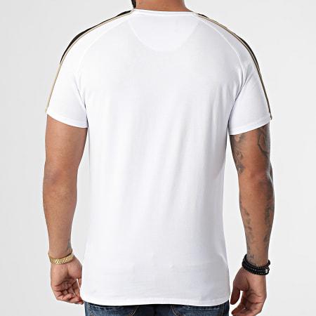 SikSilk - Tee Shirt A Bandes Astro Raglan Gym Blanc Noir