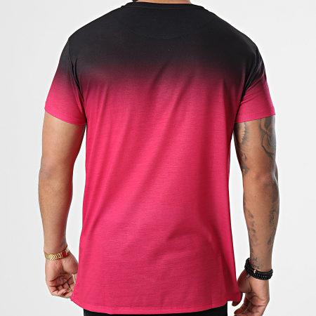 SikSilk - Tee Shirt Dégradé High Fade Bordeaux Noir