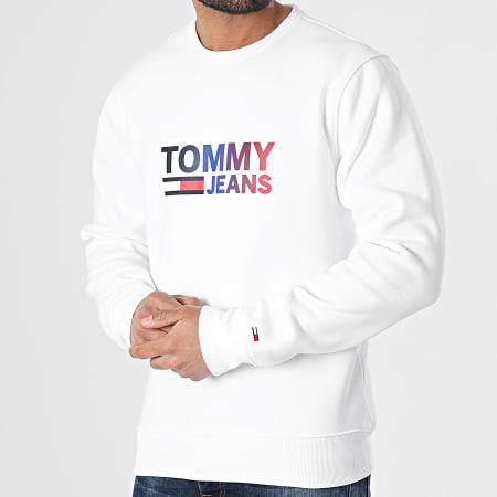 Tommy Jeans - Sweat Crewneck Ombre Corp Logo 0202 Blanc