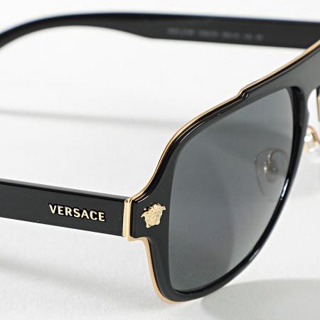 Versace - Lunettes De Soleil 0VE2199-100281 Noir Doré Polarisé