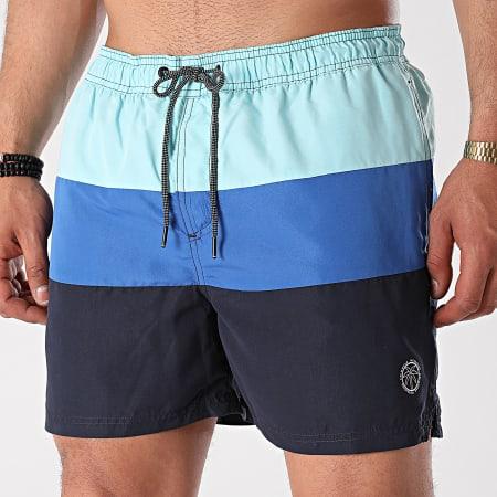 Jack And Jones - Short De Bain Bali Bleu Marine Bleu Roi Bleu Clair