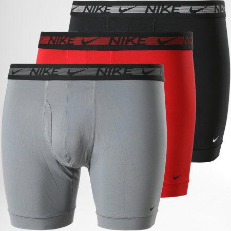 Nike - Lot De 3 Boxers Flex Micro KE1029 Noir Rouge Gris