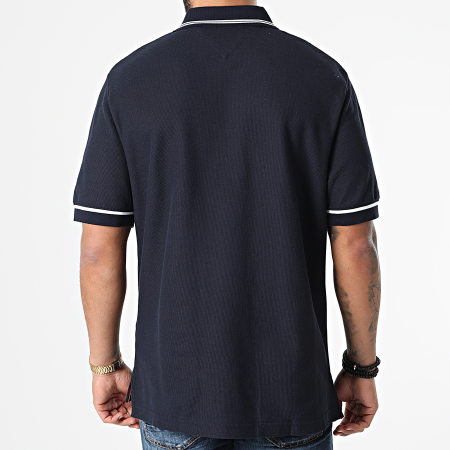Tommy Hilfiger - Polo Manches Courtes Tommy Signature Casual 7806 Bleu Marine