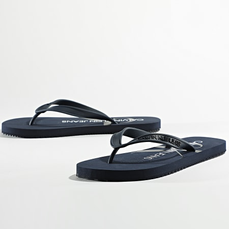 Calvin Klein Jeans - Tongs Beach Sandal Monogram 0055 Bleu Marine