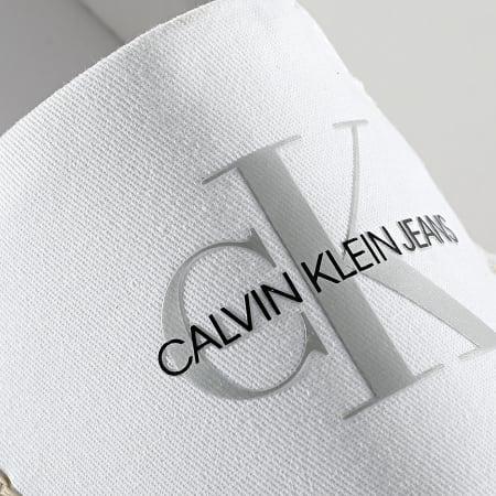 Calvin Klein - Espadrilles Femme Wedge Printed 0037 White