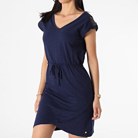 Deeluxe - Robe Femme Mirza Bleu Marine