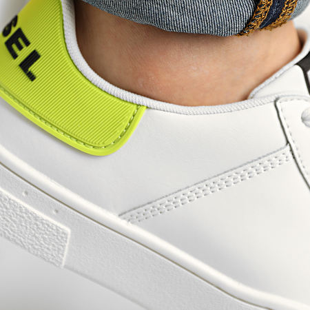 Diesel - Baskets S-Clever Low Lace Y02045-P4029 Star White Lime Punc