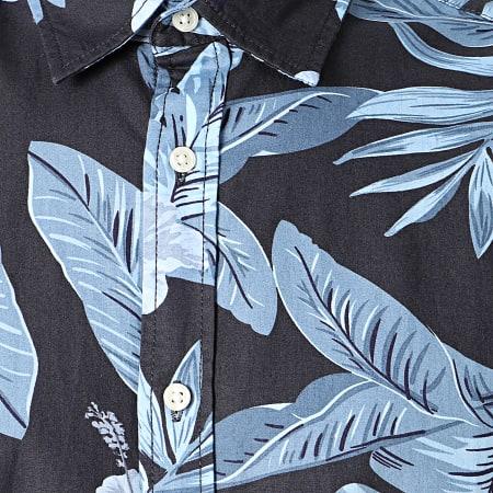 Jack And Jones - Chemise Manches Courtes Floral Chris Bleu Marine