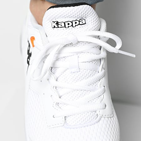 Kappa - Baskets Snugger 3112YYW White Black Vibrant Orange