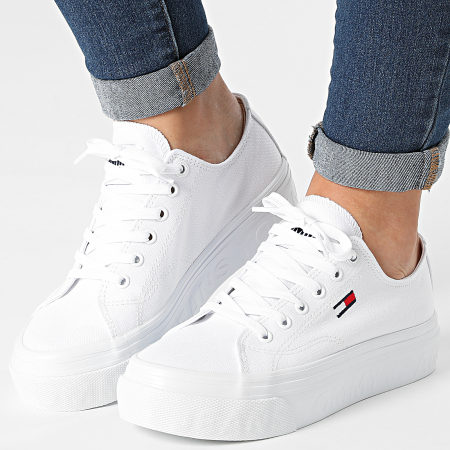 Tommy Jeans - Baskets Femme Platform Vulcanized 1371 White