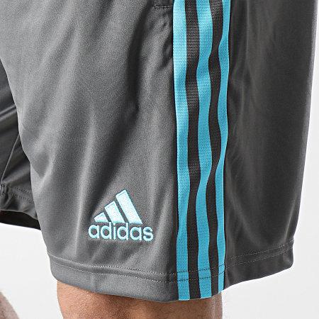 adidas - Short De Sport A Bandes Real Madrid GL0049 Gris