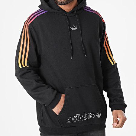 adidas - Sweat Capuche A Bandes Sport GN2424 Noir