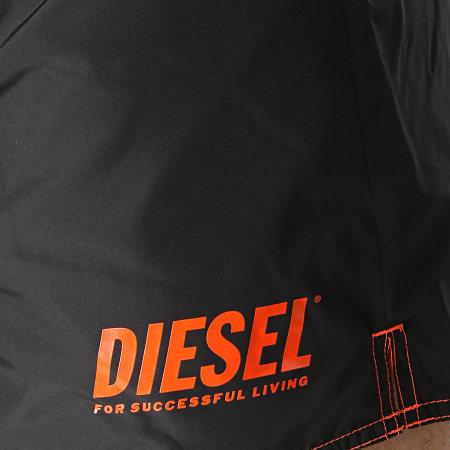 Diesel - Short De Bain Réversible BMBX Sandy A01724-0BCAW Noir Orange