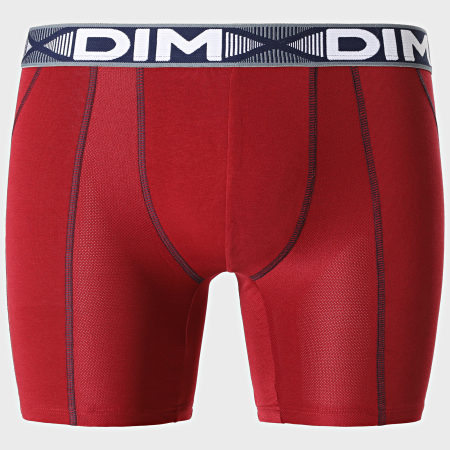 Dim - Lot De 2 Boxers Longs D01N2 Bordeaux Bleu Marine