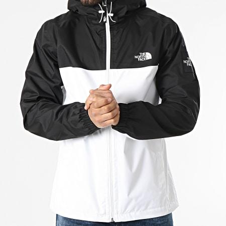The North Face - Veste Zippée Capuche BB Mountain A55BSFN4 Blanc Noir